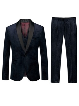 Ericdress One Button Fashion 3-Piece Mens Dress Suit