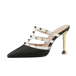 Ericdress Rivet Slip-On Stiletto Heel Women's Mules Shoes