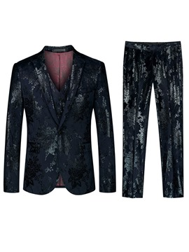 Ericdress Fashion Button Mens 3-Piece Dress Suit