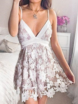 Ericdress Sleeveless Short A-Line Bowknot Cocktail Dress 2019