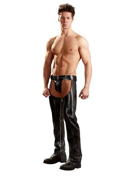 Ericdress Men's Plain Hollow Patent Leather Sexy Pants
