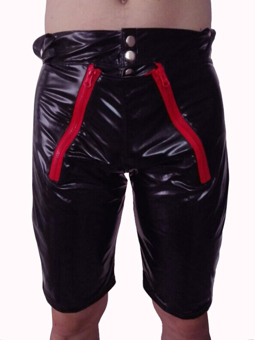 Ericdress Men's Sexy Patent Leather Tight Shorts