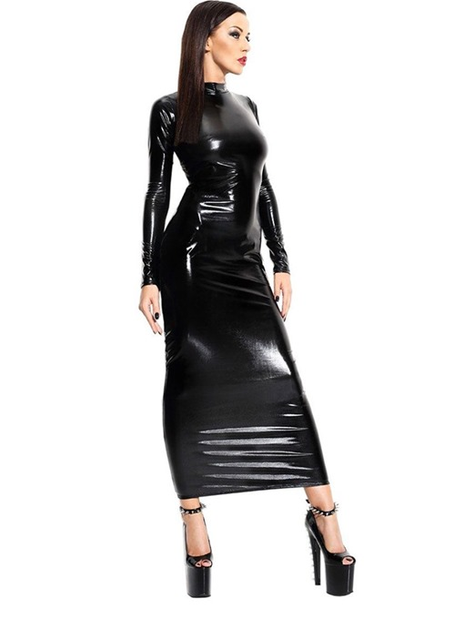Ericdress Backless Patent Leather Long Sleeve Sexy Costume