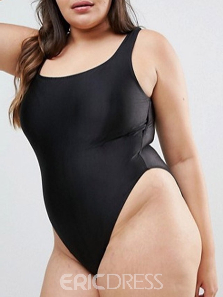 Ericdress Plus Size Plain Stretchy Skimpy Swimwear