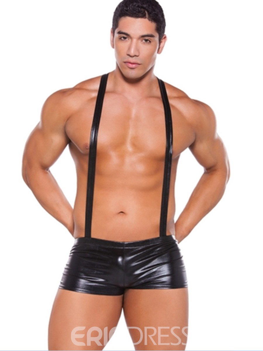 Ericdress Patent Leather Plain Sexy Men's Costume