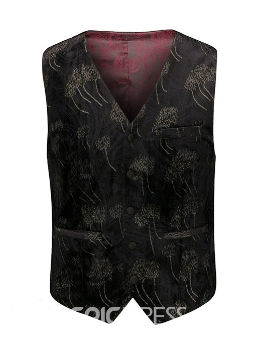 Ericdress Vest One Button Pocket 3-Piece Mens Dress Suit