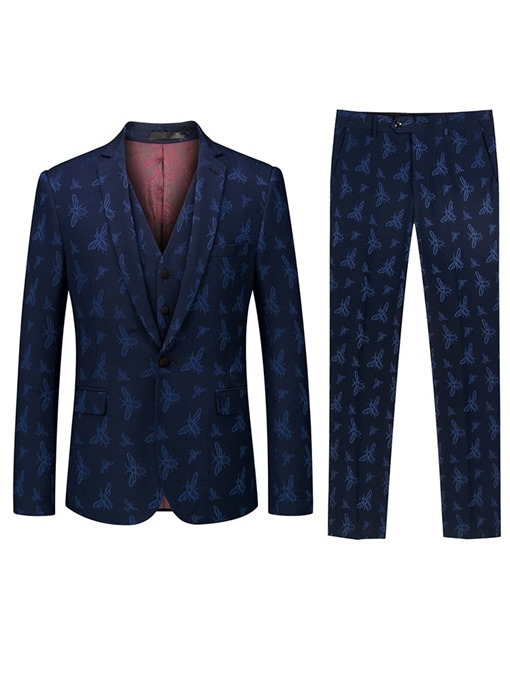 Ericdress One Button Pocket 3-Piece Mens Dress Suit