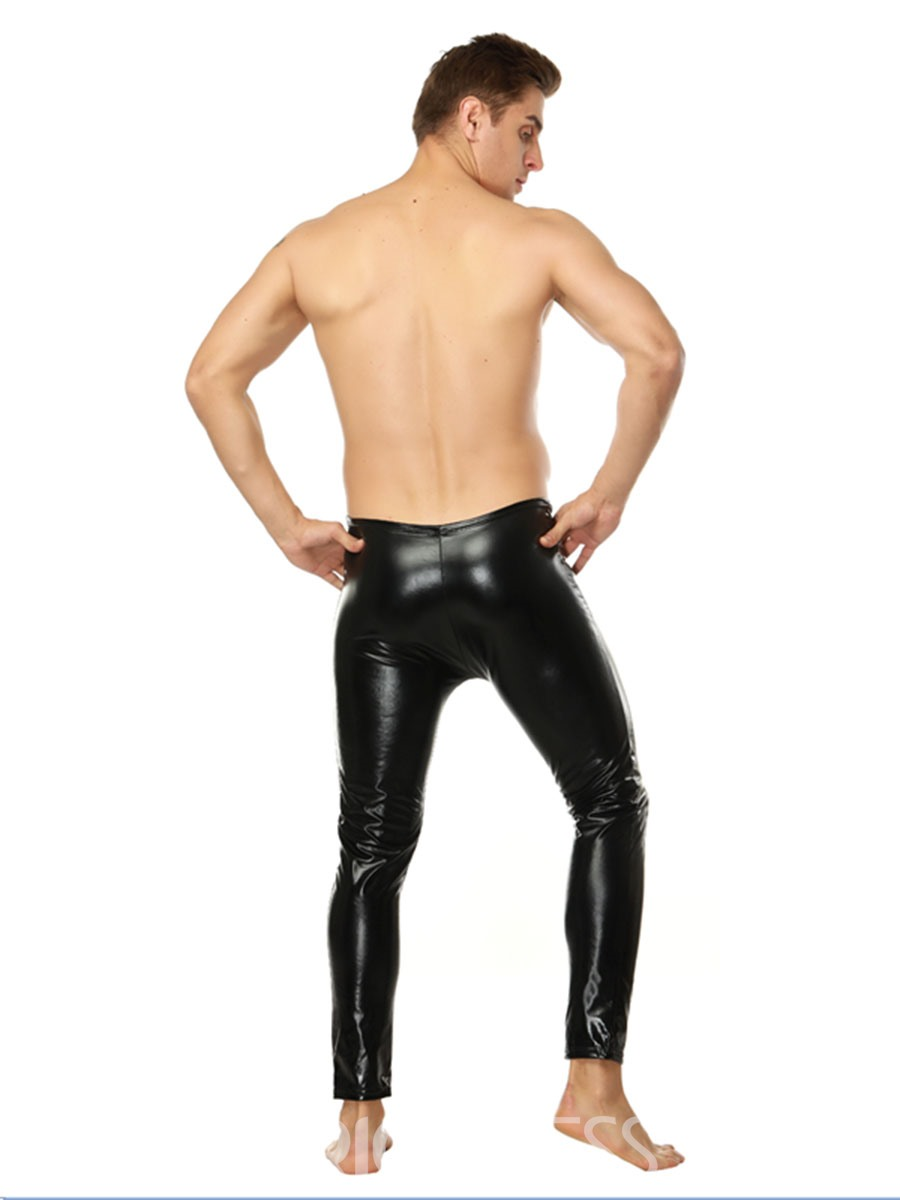 Ericdress Men's Plain Patent Leather Leggings