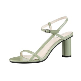Ericdress Plain Chunky Heel Open Toe Buckle Women's Sandals