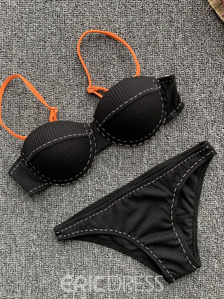 Ericdress Color Block Sexy Patchwork Swimsuit