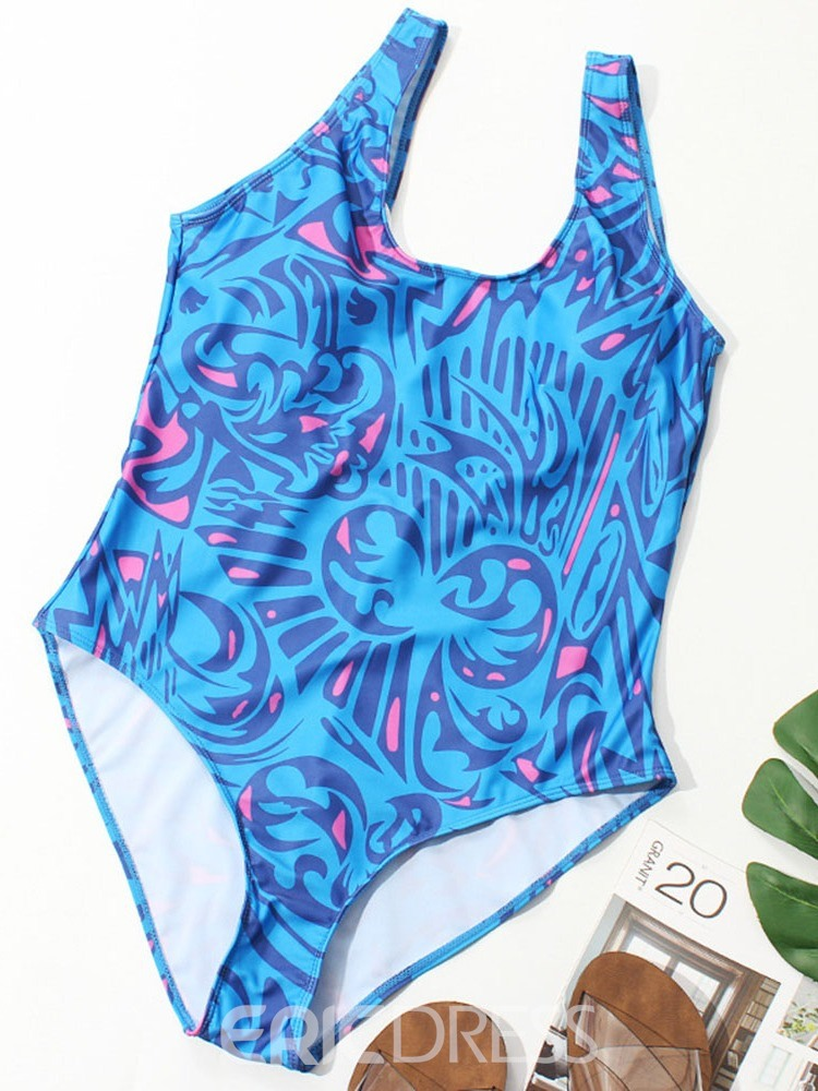 Ericdress Plus Size Floral Print Stretchy Swimwear