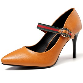 Ericdress Color Block Stiletto Heel Buckle Women's Pumps