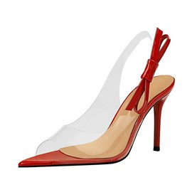 Ericdress PVC Slingback Strap Stiletto Heel Women's Sandals