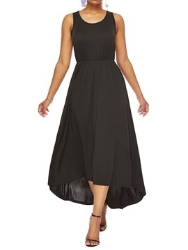 Ericdress Casual Single Ankle-Length Sleeveless Asymmetrical Dress