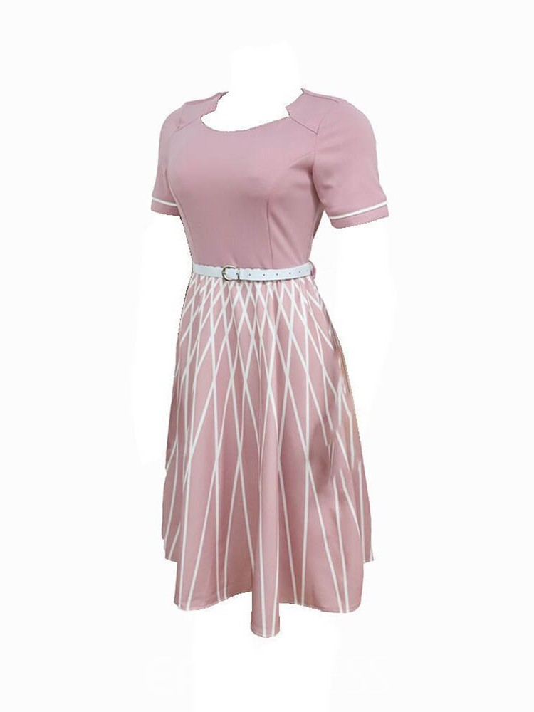 Ericdress Plus Size A-Line Ladylike Round Neck A-Line Pullover Dress