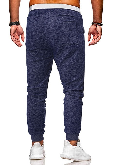 Ericdress Thin Lace-Up Plain Mid Waist Mens Casual Pants