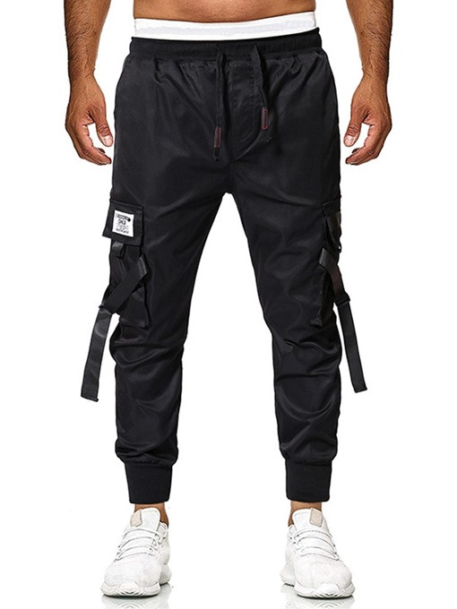 Ericdress Cargo Pants Plain Thin Overall Mens Casual Pants