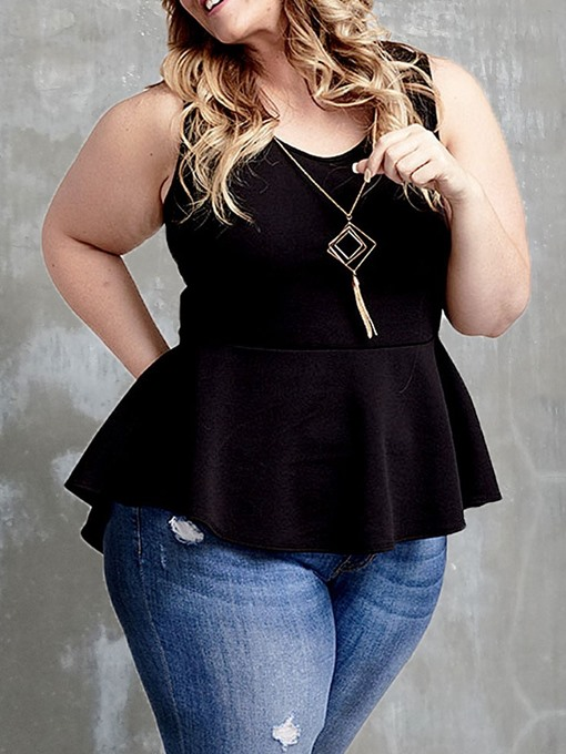 Ericdress Plus Size I-Shaped Polyester Standard Tank Top