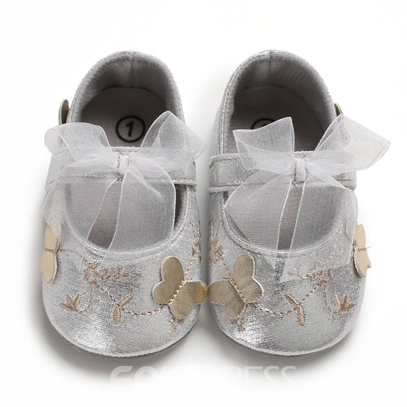 Ericdress Bowknot Velcro Baby Shoes