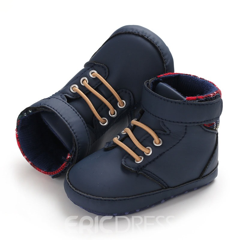 Ericdress Lace-Up Color Block Baby Shoes