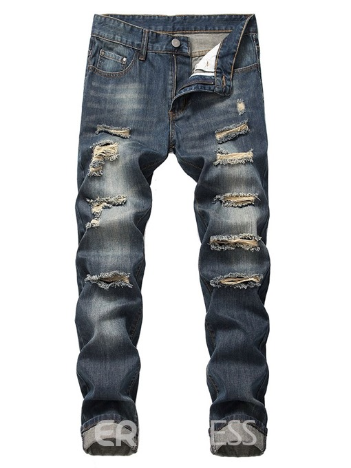 Ericdress Zipper Men's Casual Jeans