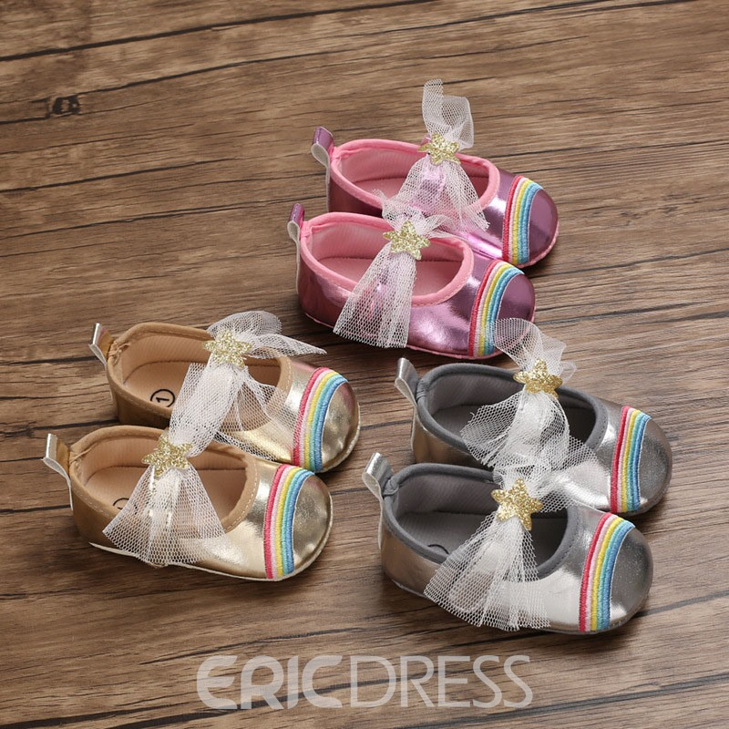 Ericdress Bowknot Embroidery Baby Shoes