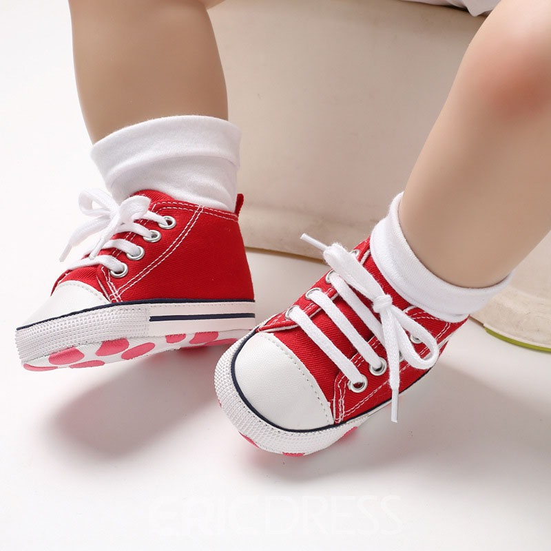 Ericdress Candy Color Lace-Up Baby Shoes