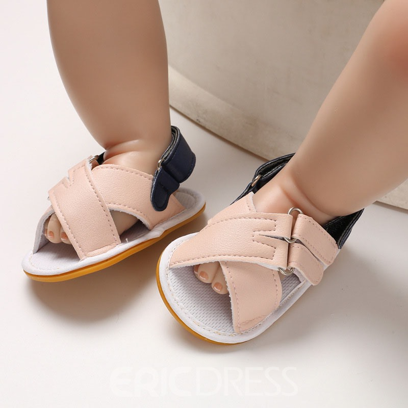 Ericdress Color Block Velcro Open Toe Baby Shoes