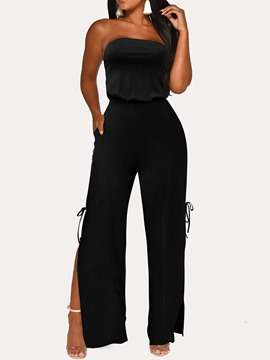 ericdress fashion plain in voller Länge gerade hohe Taille Overall