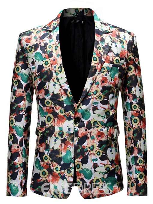 Ericdress Slim Notched Lapel Color Block Men's leisure Blazers