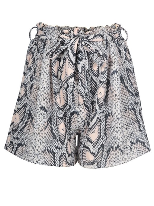 Ericdress Serpentine Wide Legs Print Loose High Waist Shorts