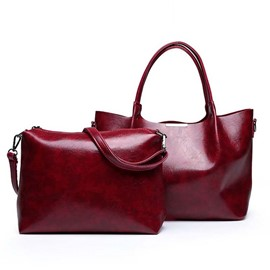 Ericdress Thread Leather Plain Handbag
