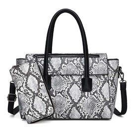 Ericdress Serpentine Snake-Grain PatternThread PU Handbag