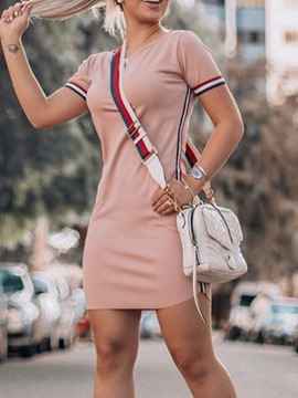 Ericdress Regular Above Knee Round Neck Bodycon Dress