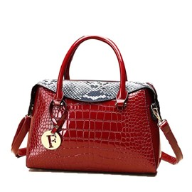 Ericdress PU Embossing Serpentine Pillow Handbag