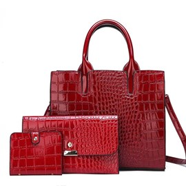 Ericdress Embossing PU Alligator Handbag