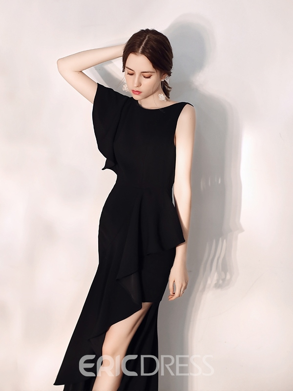 Ericdress Trumpet Asymmetry Scoop Cocktail Dress 2019