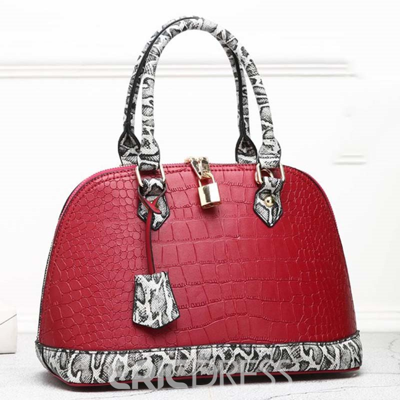 Ericdress Leopard Print Serpentine Embossing Shell Handbag