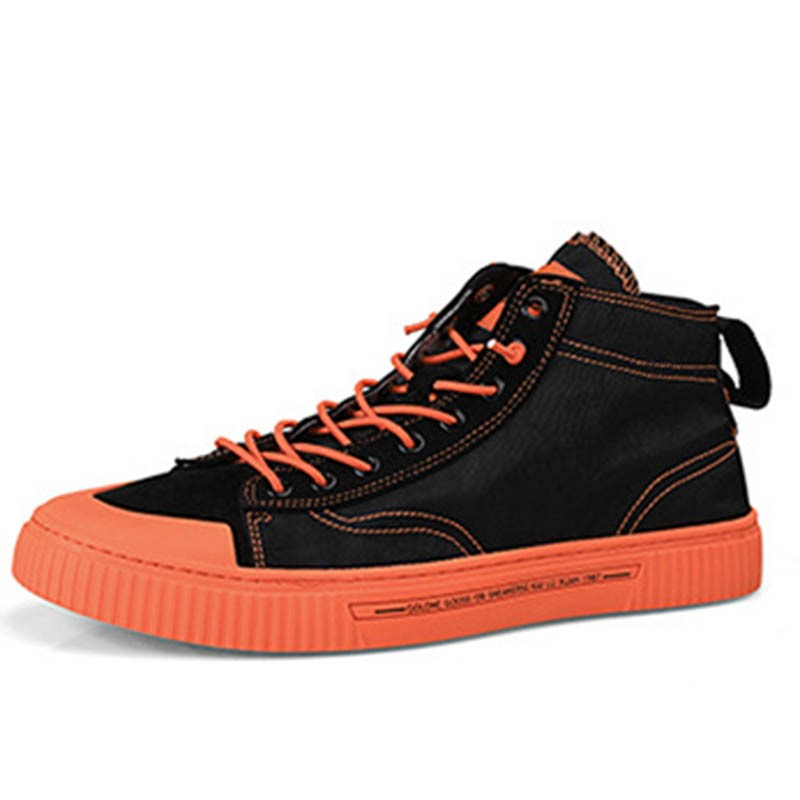Ericdress Color Block Lace-Up High-Cut Upper Round Toe Men's Skate Shoes