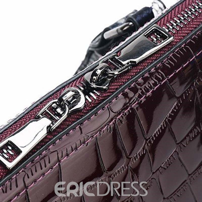 Ericdress Serpentine Thread PU Shell Handbag