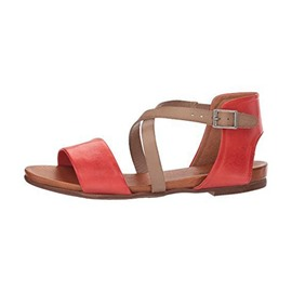 Ericdress PU Color Block Buckle Open Toe Block Heel Women's Flat Sandals