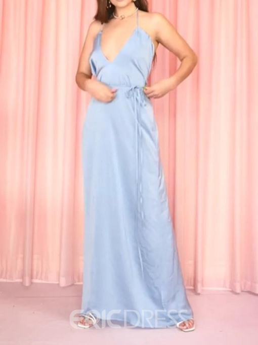 Ericdress Ankle-Length Single Backless A-Line Sexy Summer Dress