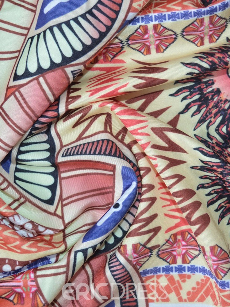 Ericdress African Fashion Color Block Print Stretchy Swimwear