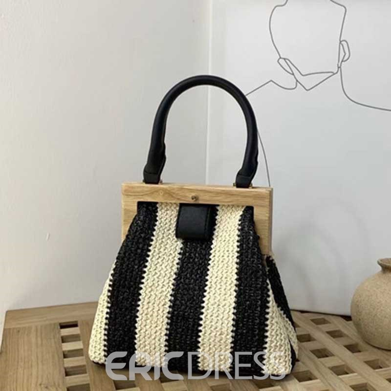 Ericdress Grass Knitted Plain Fashion Handbag