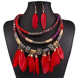 Ericdress Earrings Ethnic Leaf Jewelry Set