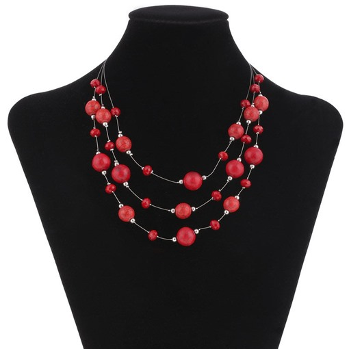 Ericdress Beads Handmade Multilayer Necklace
