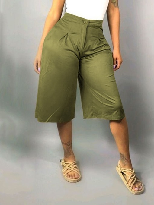 Ericdress Plain Loose Mid-Calf Wide Legs Casual Pants