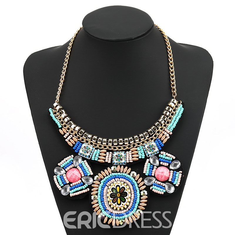 Ericdress Bohemian Color Block Female Necklace