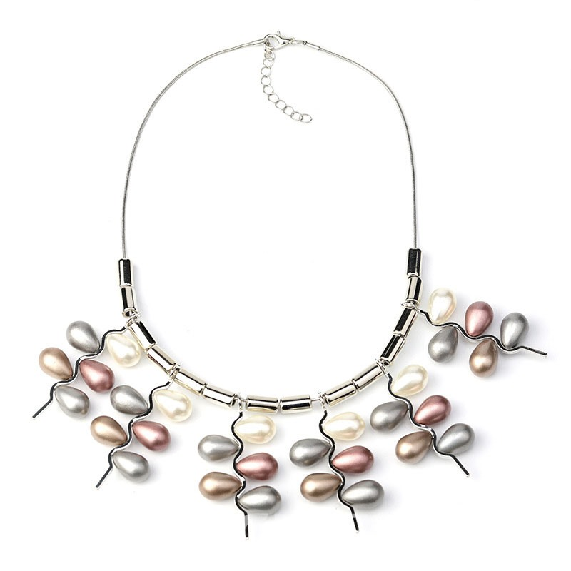 Ericdress Multilayer Pearl Pendant Necklace