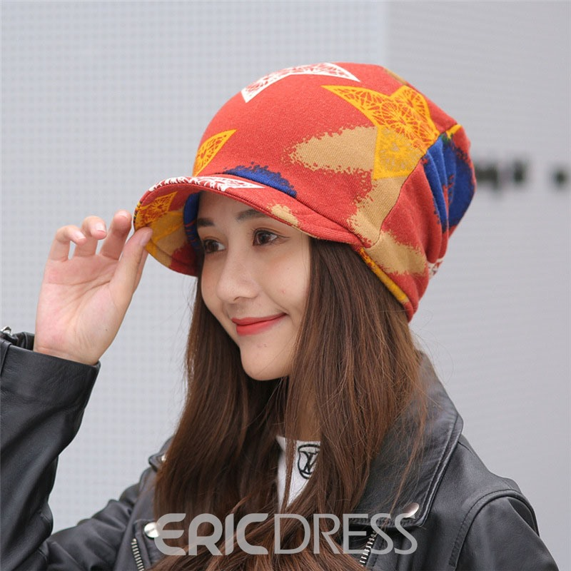 Ericdress Print Warm Winter Star Hat